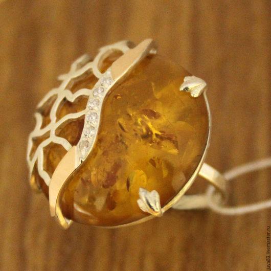 Кольца ручной работы. Ярмарка Мастеров - ручная работа. Купить Серебряное кольцо Африка, серебро 925 пробы. Handmade. Желтый