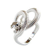 Украшения handmade. Livemaster - original item Silver ring snake, ring snake, ring with a snake. Handmade.