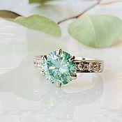 Украшения handmade. Livemaster - original item 17p Wild Mint Diamond Ring 2.6 ct buy. Handmade.