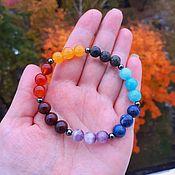 Фен-шуй и эзотерика handmade. Livemaster - original item 7 Chakra bracelet with natural stones
