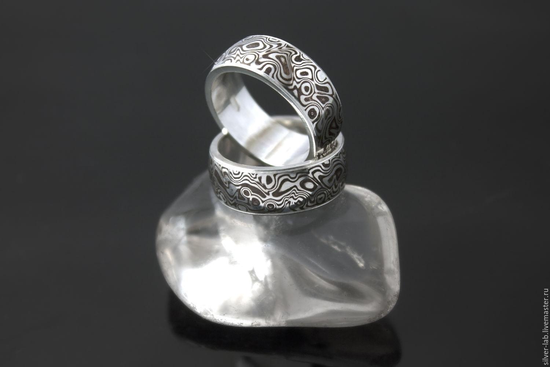 Кольца ручной работы. Ярмарка Мастеров - ручная работа. Купить Обручальные  кольца мокуме гане. 39b47908257