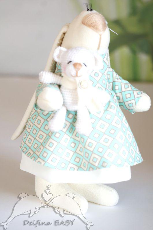 """Игрушки животные, ручной работы. Ярмарка Мастеров - ручная работа. Купить Мягкая игрушка заяц """" Зайка с мишкой"""". Handmade."""