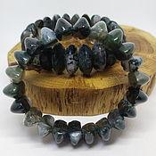 Украшения handmade. Livemaster - original item Mysterious Forest bracelet (quartz with chlorite, chalcedony). Handmade.