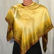 Аксессуары handmade. Livemaster - original item Silk scarf batik Cappuccino. Handmade.