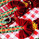 """Одежда ручной работы. Ярмарка Мастеров - ручная работа. Купить Тканый пояс  """"Ткалия"""". Handmade. Бордовый, русский сарафан, хлопок"""