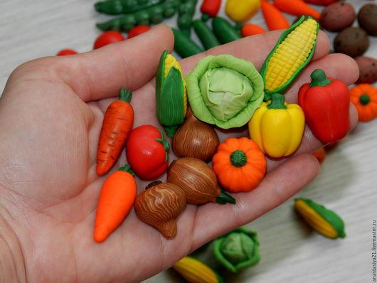 Развивающие игрушки ручной работы. Ярмарка Мастеров - ручная работа. Купить овощи и кукольная еда из полимерной глины. Handmade. Овощи