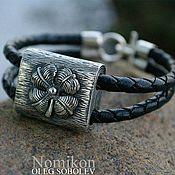 Фен-шуй и эзотерика handmade. Livemaster - original item Silver bracelet four leaf Clover for good luck. Handmade.