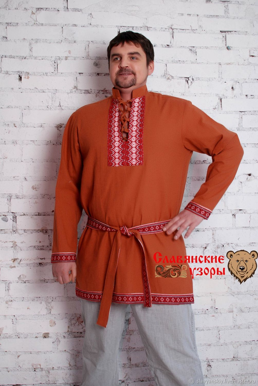 Мужская рубаха Бурый медведь, Рубашки, Санкт-Петербург, Фото №1