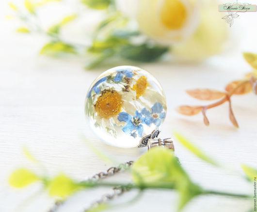 """Кулоны, подвески ручной работы. Ярмарка Мастеров - ручная работа. Купить Кулон-шар 25 мм """"Little sun"""" из ювелирной смолы. Handmade."""
