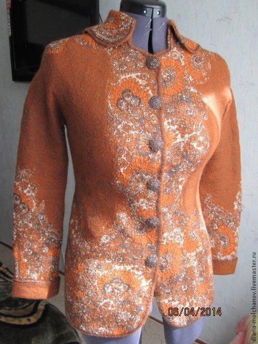Пиджаки, жакеты ручной работы. Ярмарка Мастеров - ручная работа. Купить Жакет в стиле ETRO. Handmade. Рыжий, цветочный, батист