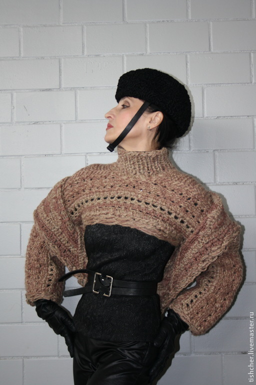 """Кофты и свитера ручной работы. Ярмарка Мастеров - ручная работа. Купить Джемпер из двух предметов """"Шерстяной хит"""". Handmade. Бежевый"""