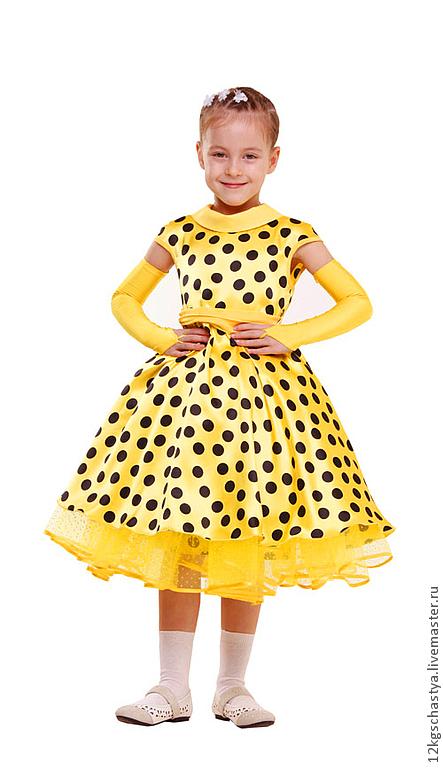"""Одежда для девочек, ручной работы. Ярмарка Мастеров - ручная работа. Купить Платье для девочки """"Полина"""". Handmade. Желтый, стиляги"""