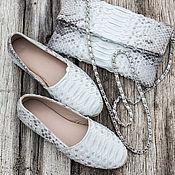 Обувь ручной работы handmade. Livemaster - original item Espadrilles made of natural Python skin . Size 35.5-36. Handmade.