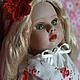 Коллекционные куклы ручной работы. Заказать Лайма. Лялечкины мишки (Nonafuma). Ярмарка Мастеров. Зеленый глаза, бежевый, акриловые краски