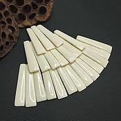 handmade. Livemaster - original item Beads-Connectors Bleached Buffalo Bone 53h12mm. Handmade.