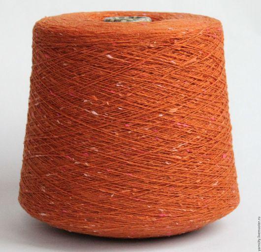 Вязание ручной работы. Ярмарка Мастеров - ручная работа. Купить Твид Италия 100% шерсть. Handmade. Оранжевый, твид