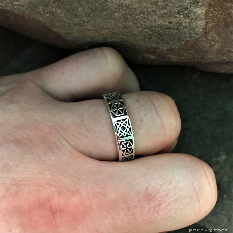 Oberezhnoe Ring (Alatyr, Valkyrie, star of Perun, star of Russia), Folk decorations, Sochi,  Фото №1