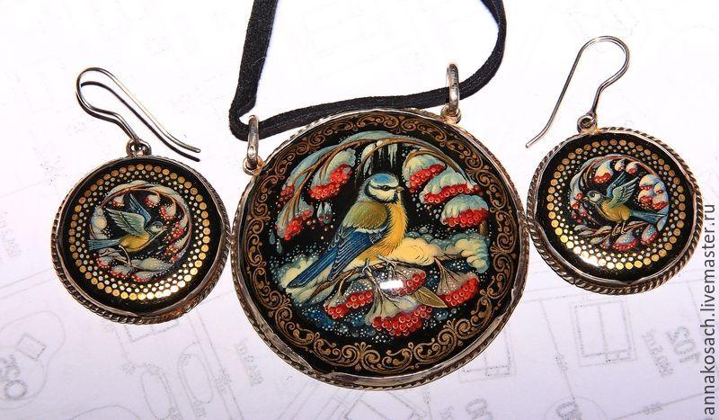 Set female jewelry 'blue Tit', Jewelry Sets, Sizran,  Фото №1