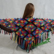 Аксессуары ручной работы. Ярмарка Мастеров - ручная работа Шаль разноцветная. Handmade.