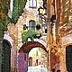 Город ручной работы. Ярмарка Мастеров - ручная работа. Купить Картина батик Старый город-2. Handmade. Рыжий