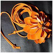 Аксессуары ручной работы. Ярмарка Мастеров - ручная работа Пояс с цветком. Handmade.