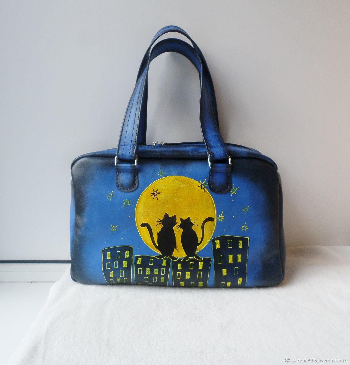 Custom painted leather bag for Marina, Classic Bag, Noginsk,  Фото №1