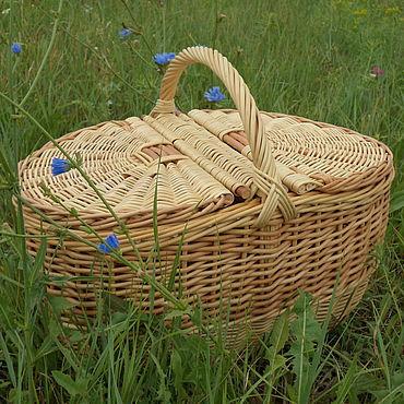 Для дома и интерьера ручной работы. Ярмарка Мастеров - ручная работа Корзина  для пикника. Handmade.