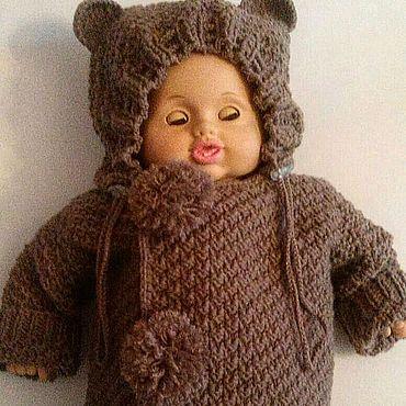 """Товары для малышей ручной работы. Ярмарка Мастеров - ручная работа """"Ми-ми-мишка""""вязаный костюм для малыша. Handmade."""