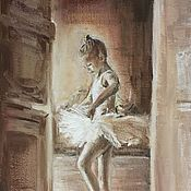 Картины и панно handmade. Livemaster - original item The picture of the Young Ballerina oil on canvas 30-20 cm. Handmade.