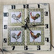 Для дома и интерьера ручной работы. Ярмарка Мастеров - ручная работа часы настенные Петушки Прованса. Handmade.