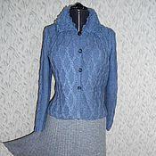 """Одежда ручной работы. Ярмарка Мастеров - ручная работа Вязаный комплект """" Осень в  серо -голубом """". Handmade."""