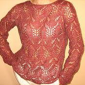 Одежда ручной работы. Ярмарка Мастеров - ручная работа пуловер цвета бордо. Handmade.