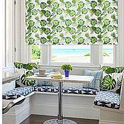 handmade. Livemaster - original item Roll-up curtains with floral print. Handmade.