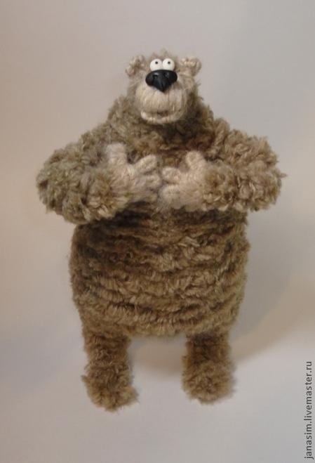 Игрушки животные, ручной работы. Ярмарка Мастеров - ручная работа. Купить Медведь Медведище.. Handmade. Коричневый