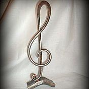 Для дома и интерьера ручной работы. Ярмарка Мастеров - ручная работа художественная ковка, Кованная Скульптура,скрипичный ключ,нота,. Handmade.