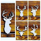 Материалы для творчества handmade. Livemaster - original item Deer-set of 10 pieces, blank for brooch, badge, toys, decor. Handmade.