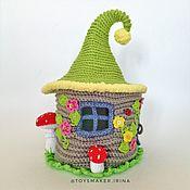 Куклы и игрушки handmade. Livemaster - original item House for the finger theater Teremok Knitted box. Handmade.