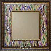 Для дома и интерьера handmade. Livemaster - original item Mirror Adras Painting pottery Painting ceramic tile. Handmade.