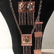 Украшения handmade. Livemaster - original item Set of earrings, bracelet and pendant