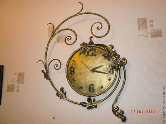 Часы для дома ручной работы. Ярмарка Мастеров - ручная работа. Купить Часы, ручная работа, ковка, металл. Handmade. Часы