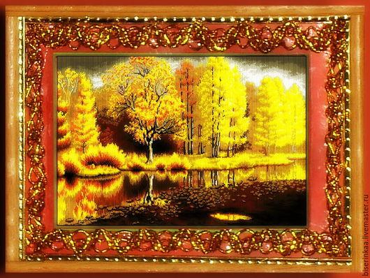 Схема для вышивания бисером `Золотая осень 01 ` полная зашивка бисером