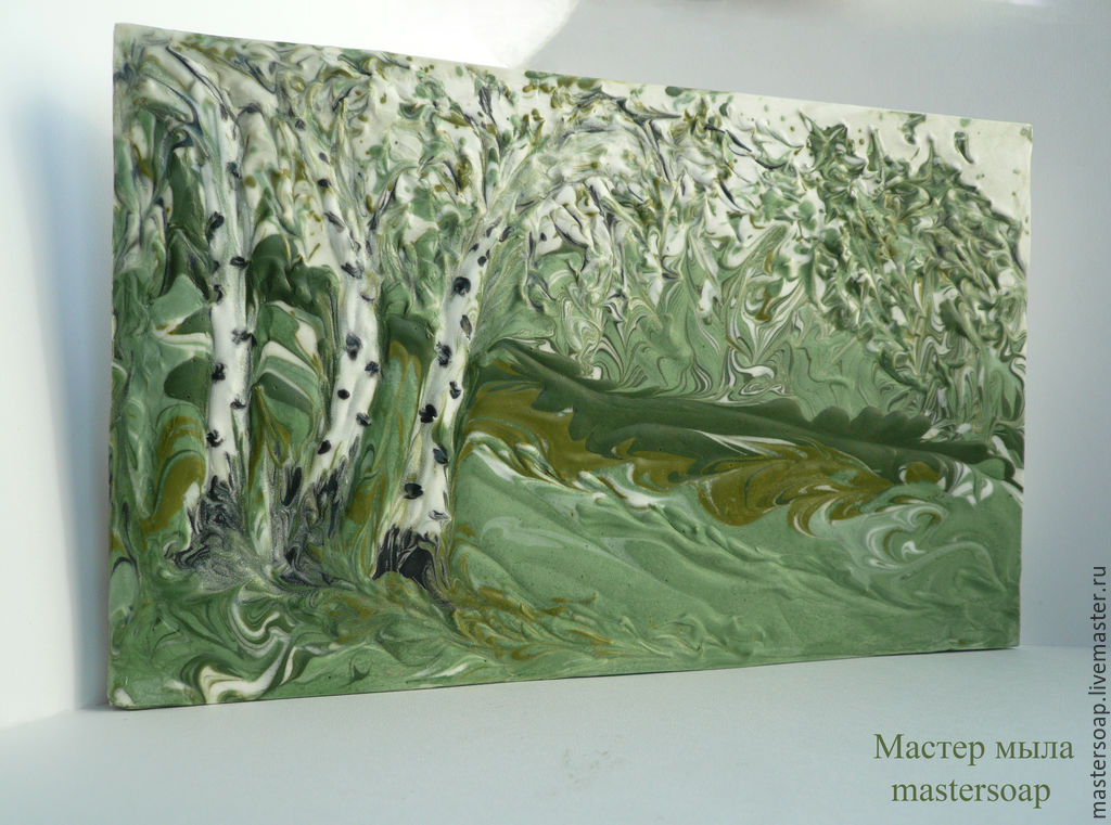 Soap painting 'birch grove', Soap, Moscow,  Фото №1