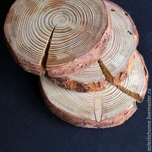 Кухня ручной работы. Ярмарка Мастеров - ручная работа. Купить Спил дерева, лиственница, 10-12 см. Handmade. Коричневый