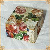 "Для дома и интерьера handmade. Livemaster - original item Box for tea bags ""Pink fragrance"". Handmade."