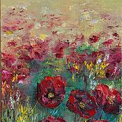 Картины и панно handmade. Livemaster - original item Oil painting with Poppies flowers. Handmade.