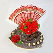 Цветы и флористика ручной работы. Ярмарка Мастеров - ручная работа Фламенко. Композиция из конфет. Handmade.