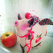"""Куклы и игрушки ручной работы. Ярмарка Мастеров - ручная работа хрюшка """"Наливное яблочко))""""    (Тильда). Handmade."""