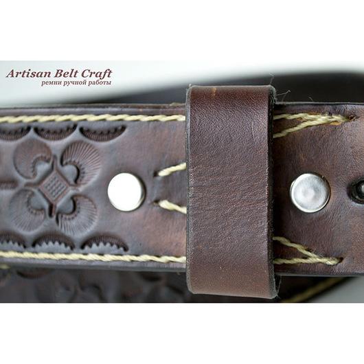 Кожаный ремень ручной работы от  Artisan Belt Craft