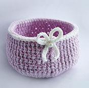 Для дома и интерьера ручной работы. Ярмарка Мастеров - ручная работа корзиночка розовая. Handmade.
