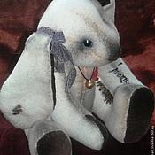 Куклы и игрушки ручной работы. Ярмарка Мастеров - ручная работа Зайка - тедди Лали. Handmade.